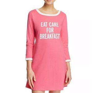 Kate Spade Pink Eat Cake for Breakfast Sleep Shirt